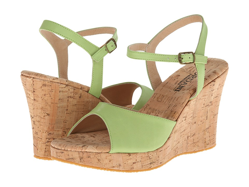 Cordani - Westminster (Green Leather/Cork) Women's Wedge Shoes