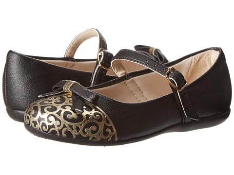 Pampili - Bailarina 188188 (Toddler/Little Kid) (Black/Gold) Girl's Shoes