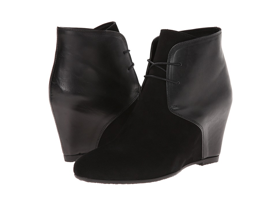 Cordani - Langley (Black Suede/Black Leather) Women