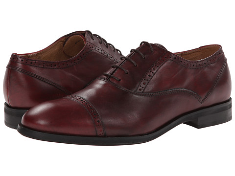 JD Fisk - Gamble (Burgundy Leather) Men's Lace up casual Shoes