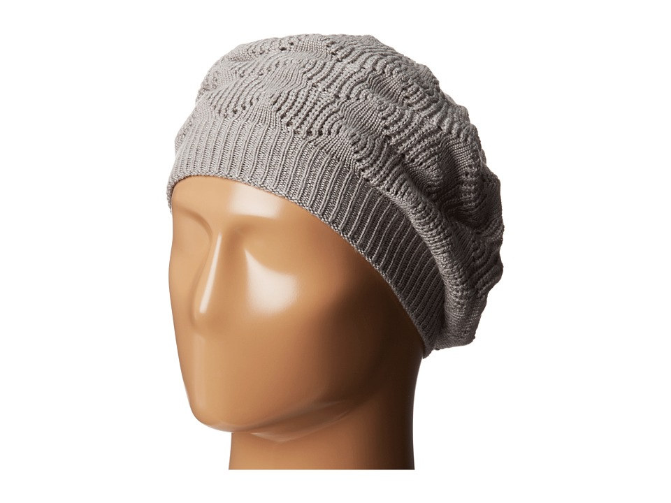 Echo Design - mSoft Diamond Stitch Beret (Grey Heather) Knit Hats
