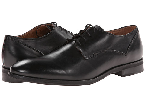 JD Fisk - Oakey (Black Leather) Men's Shoes