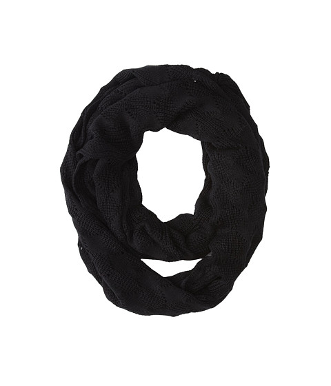 Echo Design - Soft Diamond Stitch Infinity Ring (Black) Scarves