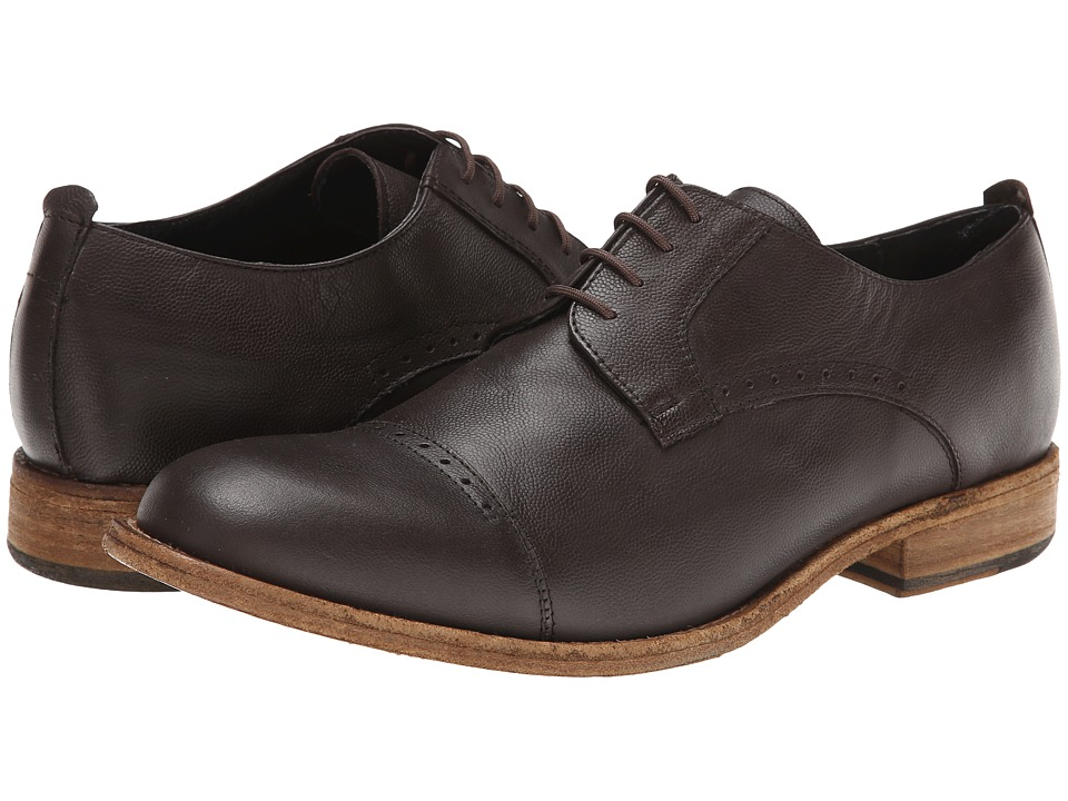 JD Fisk - Kol (Mocha Leather) Men's Lace Up Cap Toe Shoes