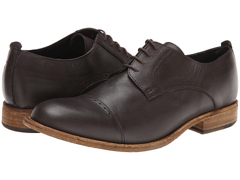 JD Fisk - Kol (Mocha Leather) Men's Lace Up Cap Toe Shoes
