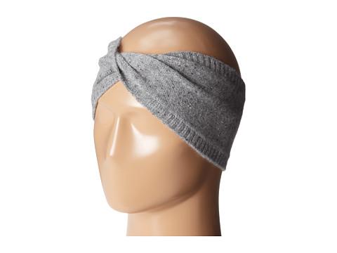 Echo Design - Cashmere Headband (Dark Grey) Knit Hats