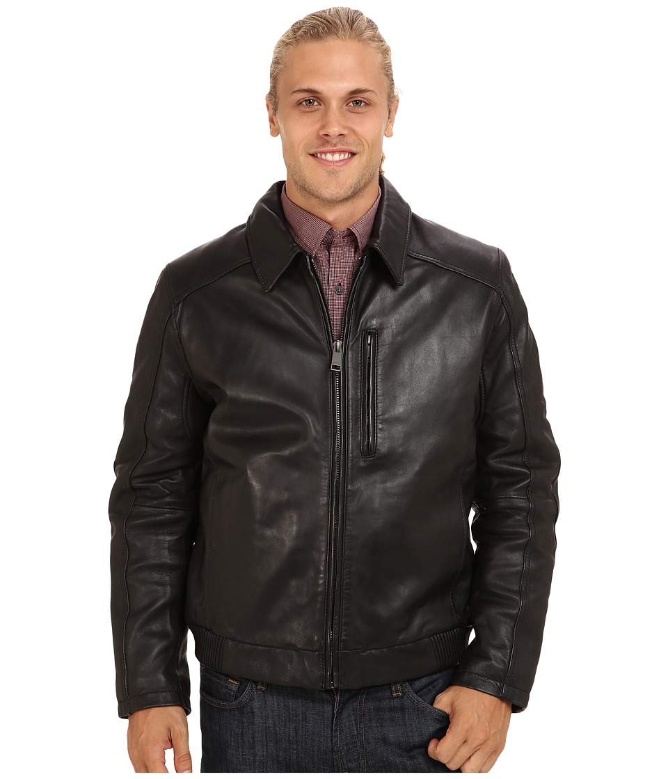 Marc New York by Andrew Marc - Serge Bomber Jacket (Black) Men's Coat