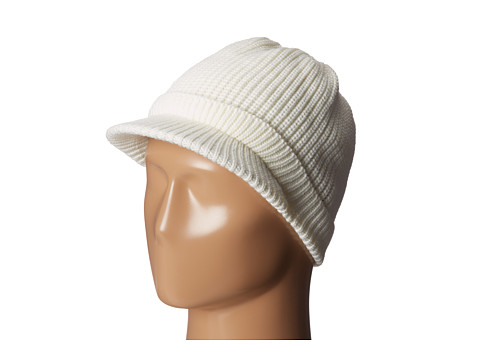 Echo Design - Gibson Girl Newsboy Hat (Cream) Knit Hats