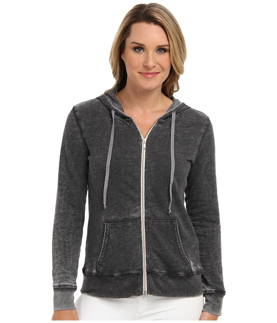 Allen Allen - L/S Zip Jacket in Cloud Wash (Black) Women's Jacket