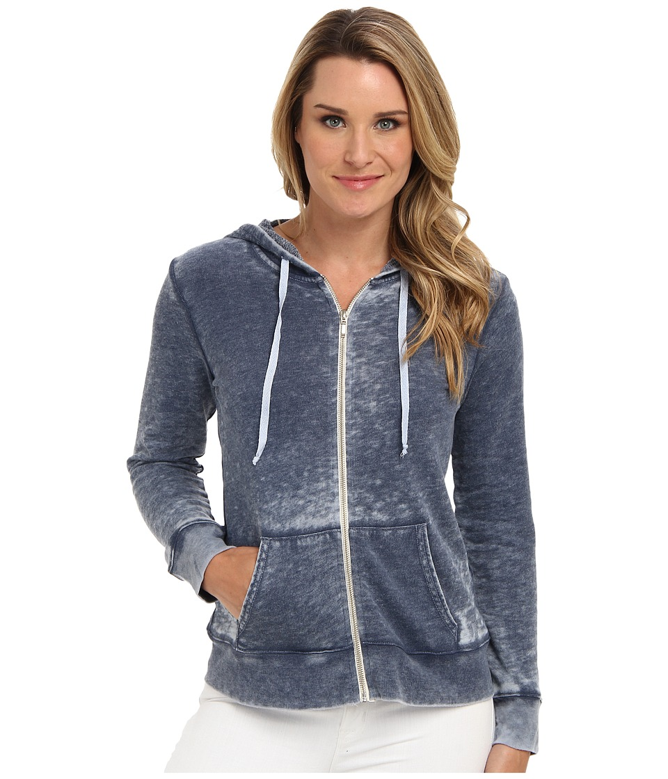 Allen Allen - L/S Zip Jacket in Cloud Wash (Lapis) Women's Jacket