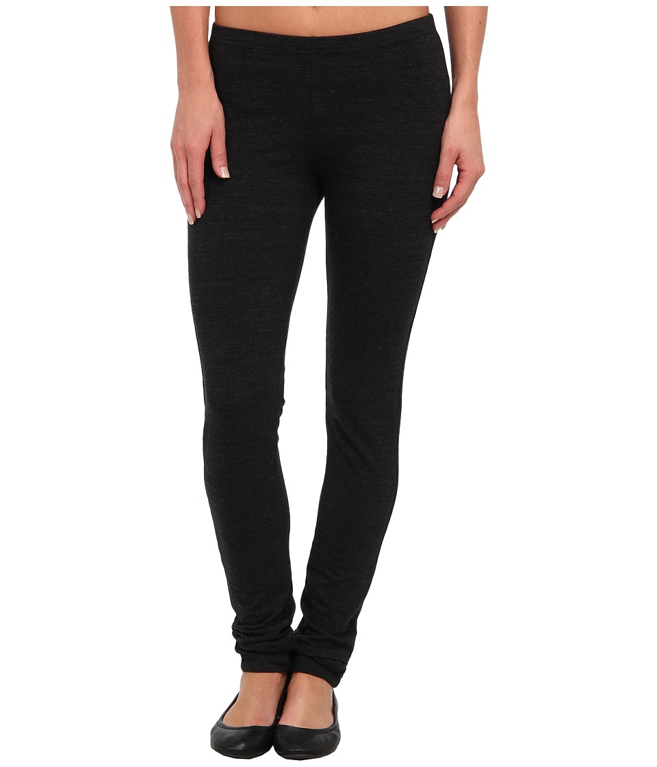 Allen Allen - Tri Blend Lycra Jersey Long Legging (Black) Women's Casual Pants