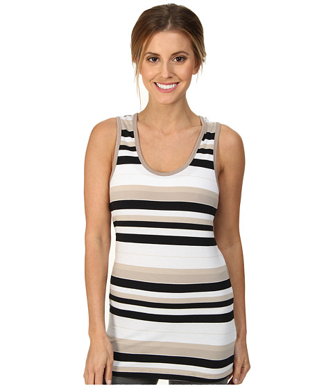 Lole - Pinnacle Racer Back Tank Top (Black Multi-Stripe) Women's Sleeveless