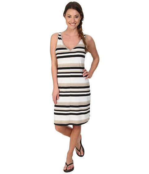 Lole - Anna Sleeveless Dress (Black Multi-Stripe) Women