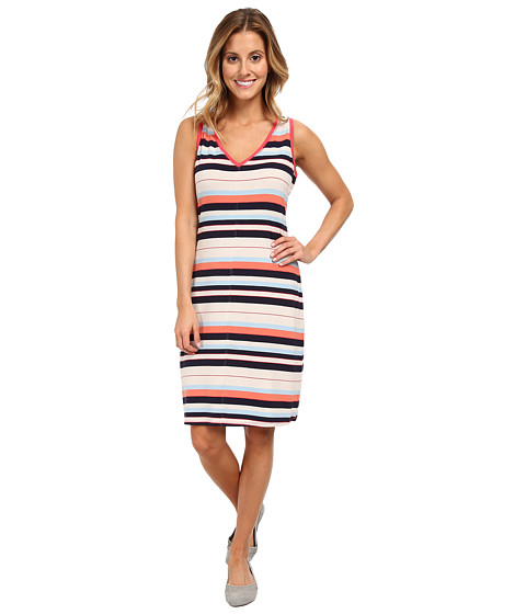 Lole - Anna Sleeveless Dress (Mandarino Multi-Stripe) Women
