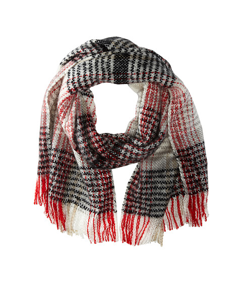 Echo Design - Scotland Plaid Woven Wrap (Red) Scarves