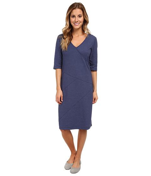Lole - Leena V-Neck Dress (Mirtillo Blue Heather) Women's Dress