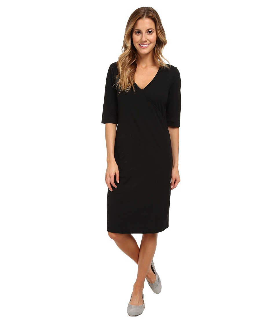 Lole Leena V-Neck Dress (Black) Women