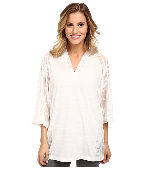 Lole - Reggae V-Neck Top (White Gelato) Women's T Shirt
