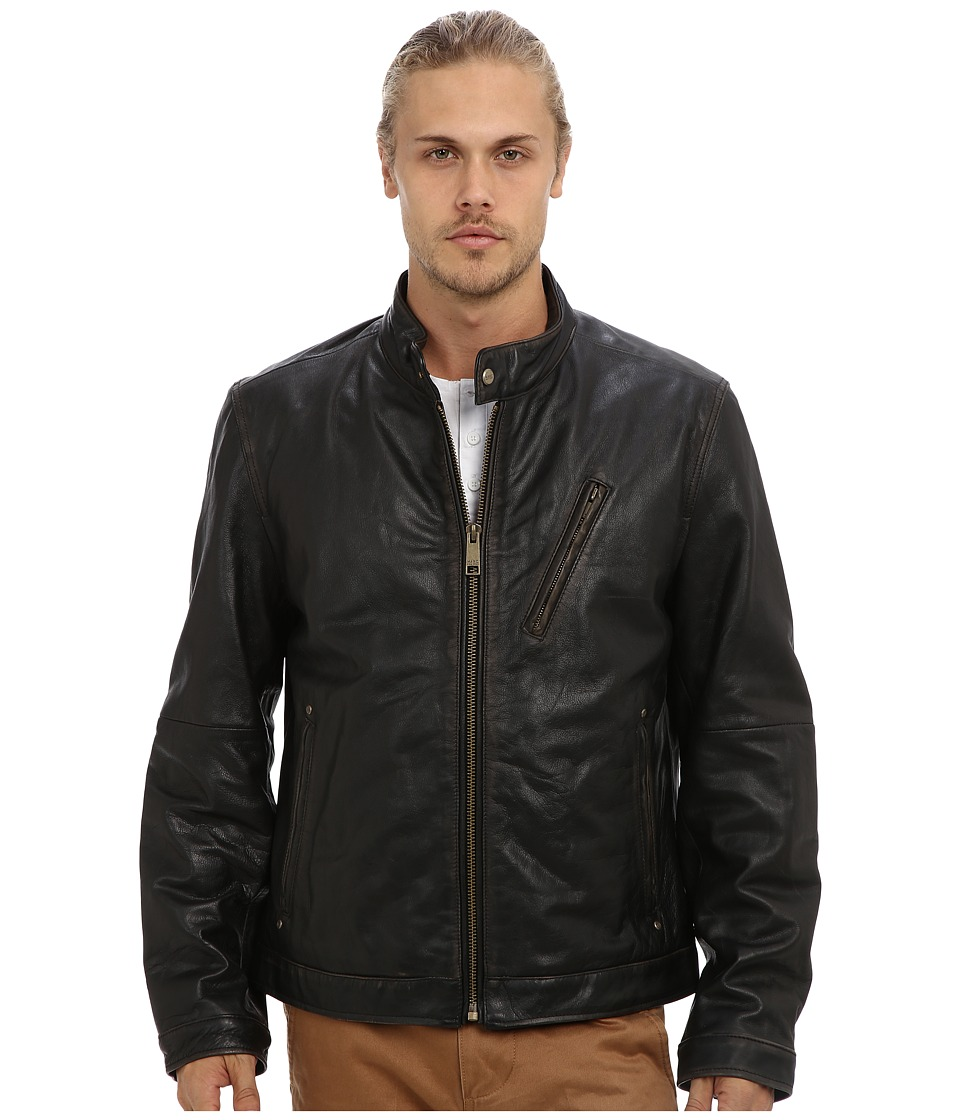 Marc New York by Andrew Marc - Radford Leather Moto Jacket (Black) Men