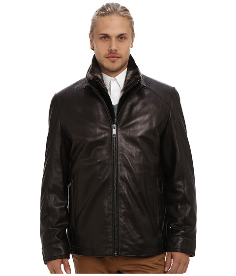 Marc New York by Andrew Marc - Shelby Leather Jacket (Black) Men's Jacket