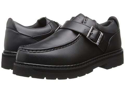 Lugz - Garvin Lo w/ Strap (Black Smooth) Men's Slip on Shoes