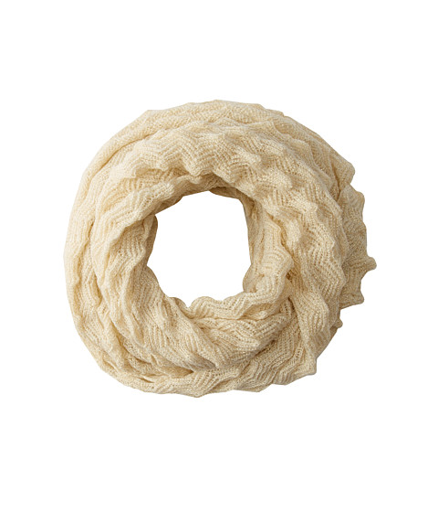 Echo Design - Fuzzy Pointy Stitch Infinity Ring (Cream) Scarves