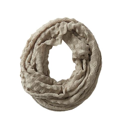 Echo Design - Fuzzy Pointy Stitch Infinity Ring (Grey Heather) Scarves