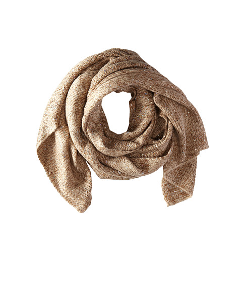 Echo Design - Fuzzy Sparkle Wrap (Camel) Scarves