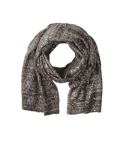 Echo Design - Fuzzy Sparkle Wrap (Charcoal) Scarves