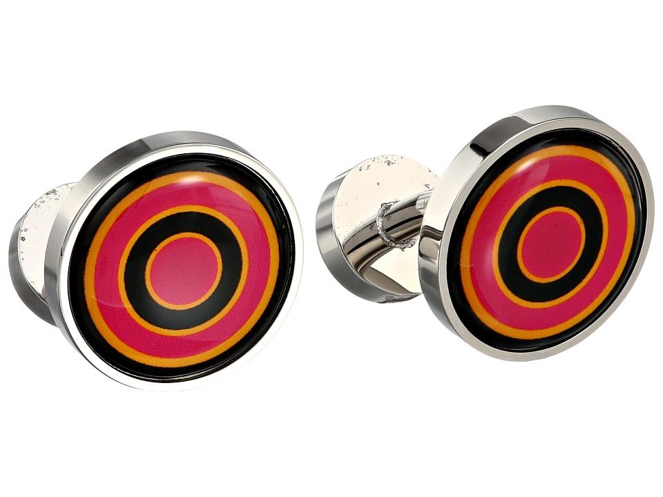 w rkin stiffs - Target Sherbert Cufflink (Pink/Orange/Black) Cuff Links