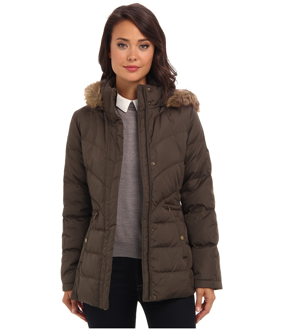 Larry Levine - Down Filled Jacket w/ Hood (Loden) Women's Coat