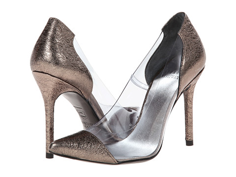 Stuart Weitzman Bridal & Evening Collection - Onview (Pewter Foil Nappa) High Heels