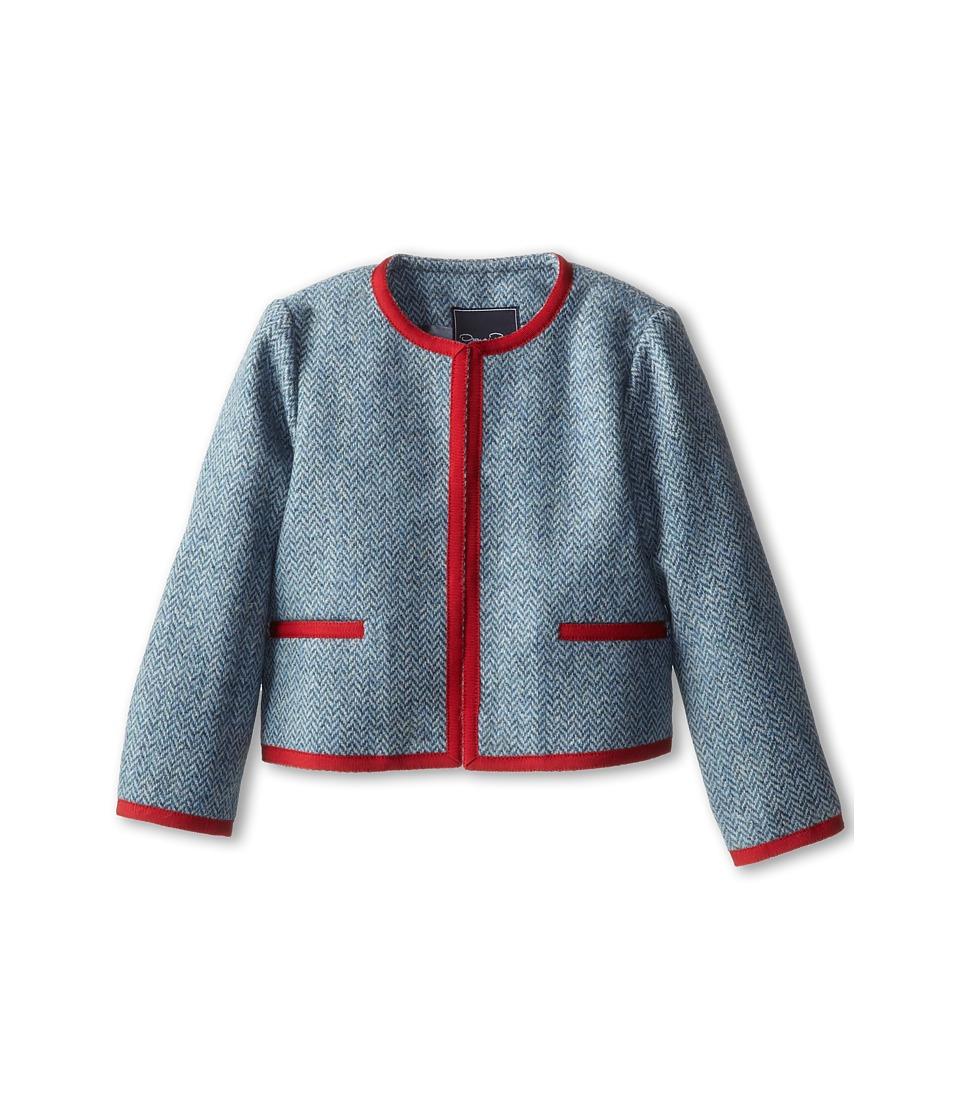 Oscar de la Renta Childrenswear - Tweed Classic Jacket (Toddler/Little Kids/Big Kids) (Teal) Girl's Jacket