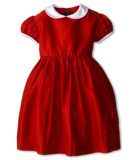 Oscar de la Renta Childrenswear - Taffeta Party Dress (Toddler/Little Kids/Big Kids) (Crimson) Girl's Dress