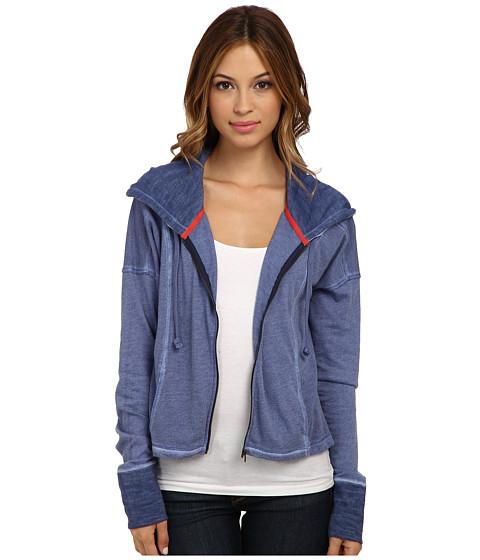 C&C California - Crop Zip Hood (Cobalt/Cobalt/Academy) Women