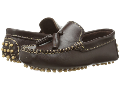 Oscar de la Renta Childrenswear - Leather Mocassins (Toddler/Little Kid) (BRW/210) Boys Shoes