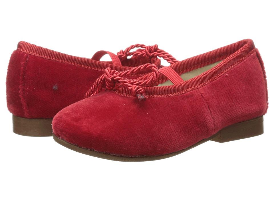 Oscar de la Renta Childrenswear - Velvet Sabrinas Shoes (Toddler/Little Kid) (Red) Girls Shoes
