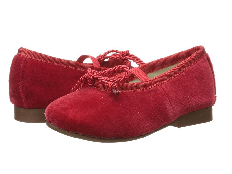 Oscar de la Renta Childrenswear - Baby Velvet Sabrinas Shoe (Toddler/Little Kid) (Crimson) Girls Shoes