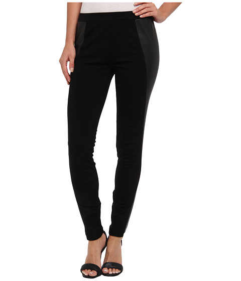 C&C California - Ponte Pant w/ Faux Leather (Black) Women's Casual Pants