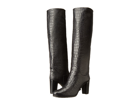 Stuart Weitzman - Touche (Nero Soft Croco) Women's Pull-on Boots