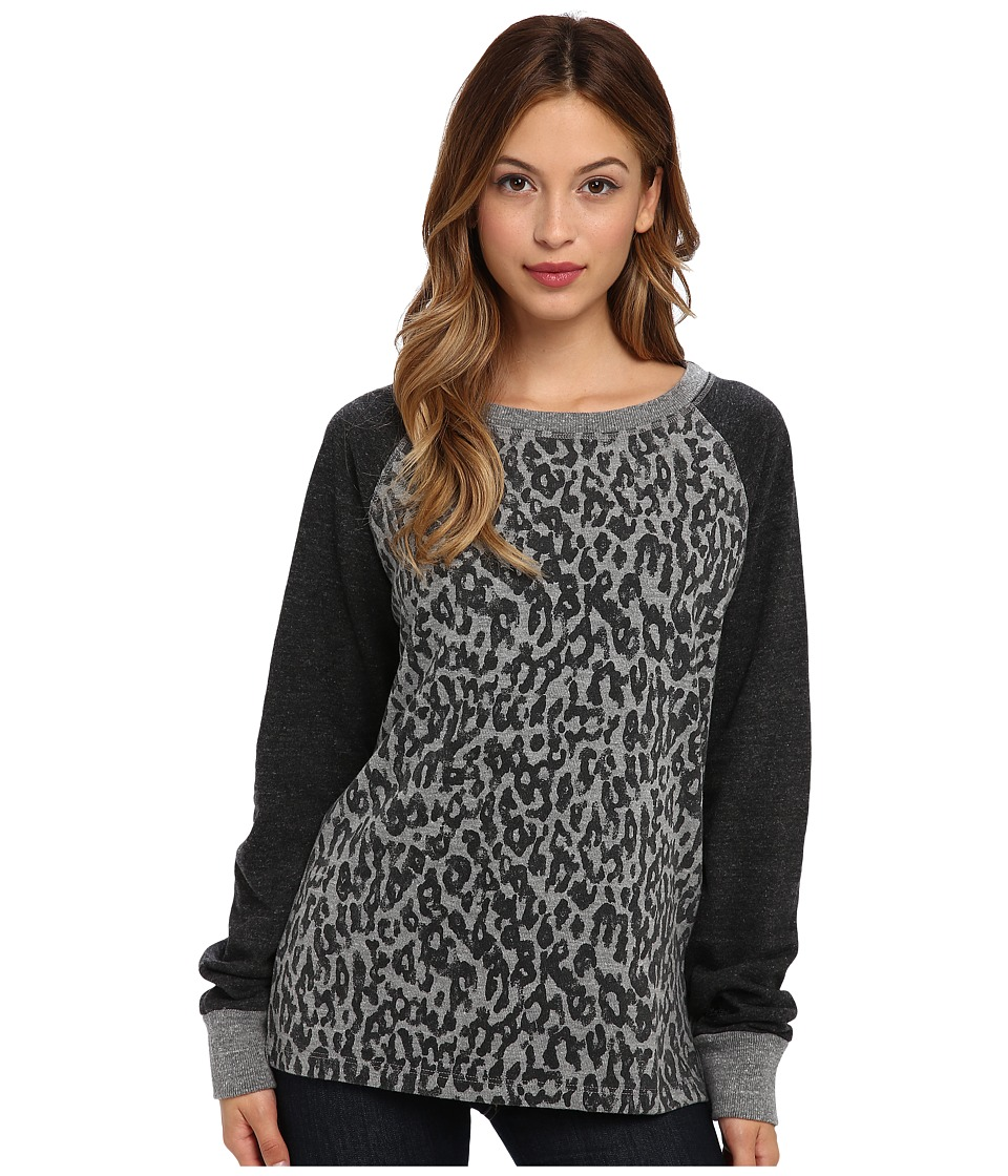 C&C California - Animal Printed Sweatshirt (Heather Grey) Women