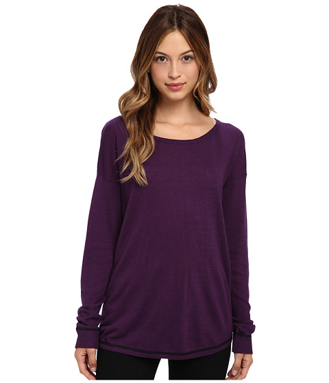 C&C California - Dolman Sweater w/ Pop Contrast (Purple Pennant) Women