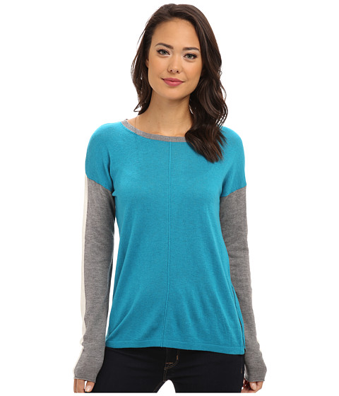 C&C California - Colorblock Sweater (Enamel Blue) Women