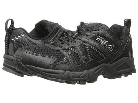 Fila - Ascente 15 (Black/Black/Metallic Silver) Men's Shoes