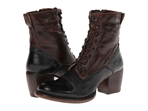 Bed Stu - Oath (Black/Rustic Teak) Women's Lace-up Boots