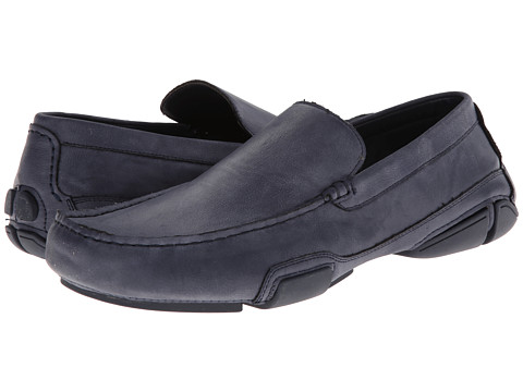 Kenneth Cole Unlisted - To Be Bold (Navy Synthetic) Men's Slip on Shoes