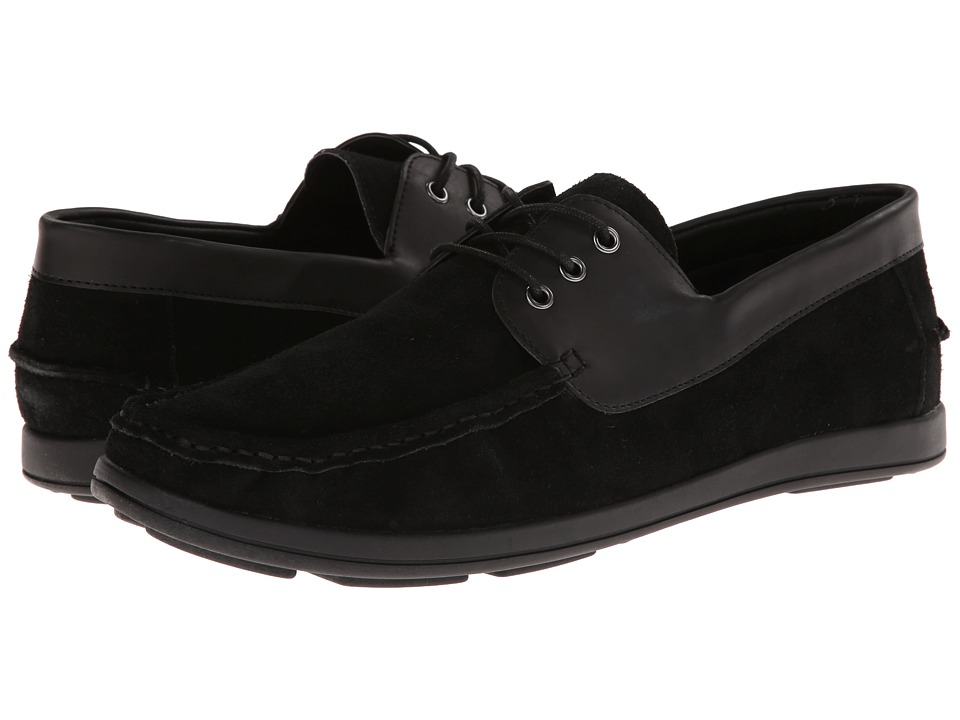 Kenneth Cole Unlisted - Back Up Plan (Black Suede) Men's Lace up casual Shoes