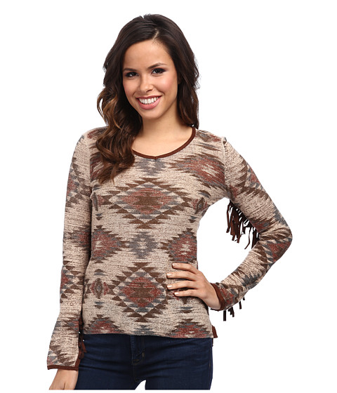 Double D Ranchwear - Mohawk Trail Tee (Multi) Women's Long Sleeve Pullover
