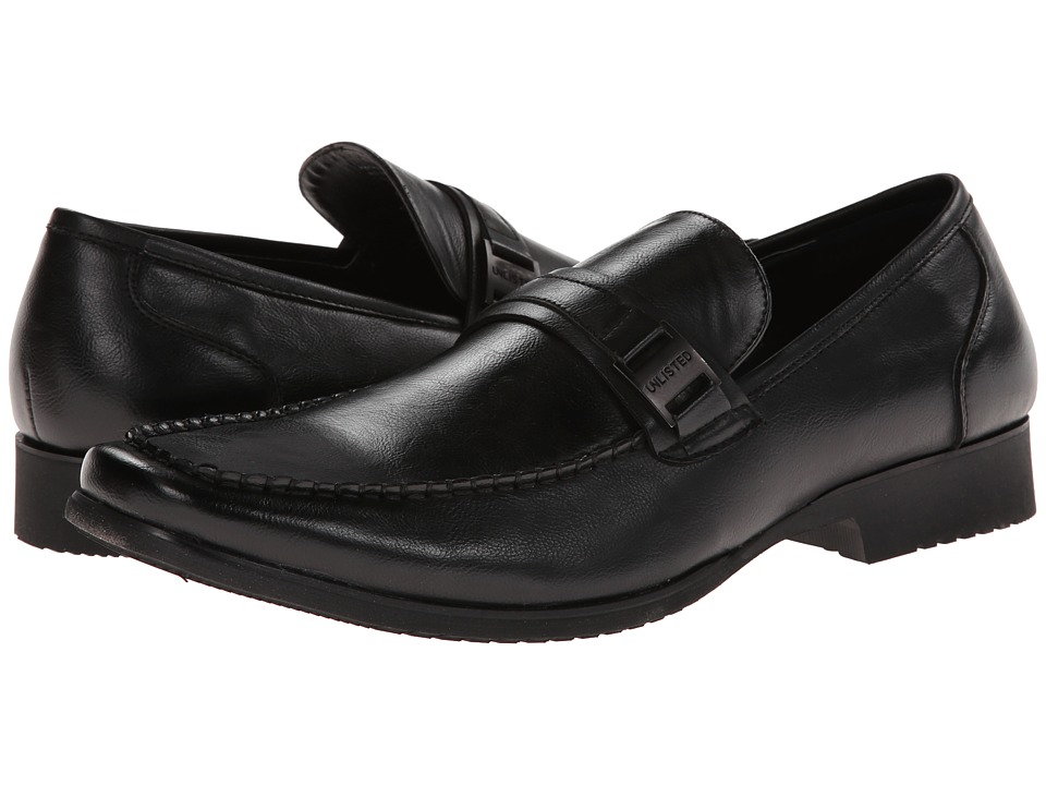 Kenneth Cole Unlisted - Remote Control (Black Synthetic) Men's Slip-on Dress Shoes