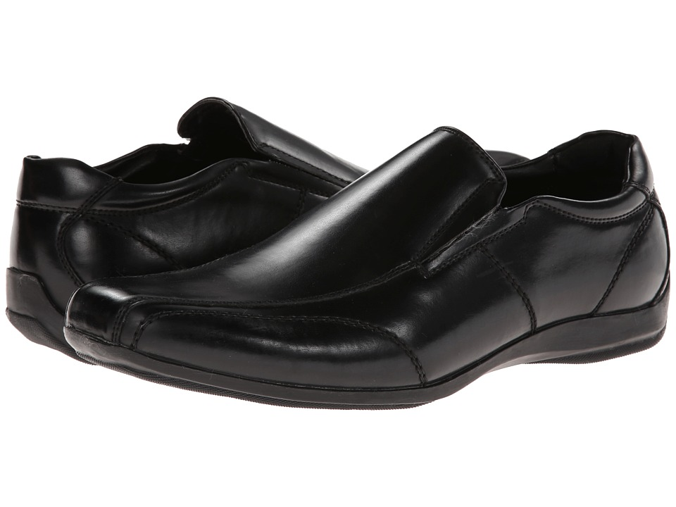 Kenneth Cole Unlisted - Fix Me Up (Black Synthetic) Men's Slip-on Dress Shoes